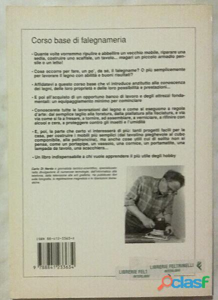 Corso base di falegnameria di Carlo Di Nardo; De Vecchi Editore, 1996 nuovo 1