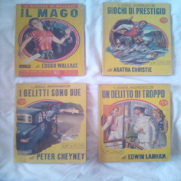 Gialli mondadori, libri del 1954, 1955, 1956, 1957