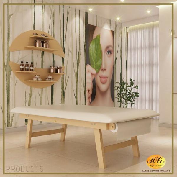 Lettino terapeutico professionale in legno