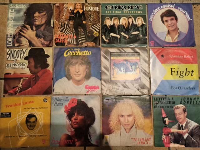 45 giri dischi vinili