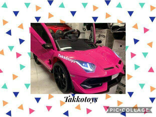 Auto macchina elettrica lamborghini 2posti rosa p