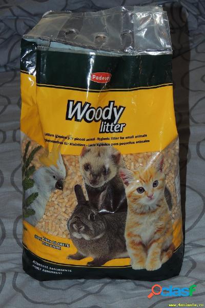 Lettiera igenica per piccoli animali altamente assorbente in 100% fibra di abete