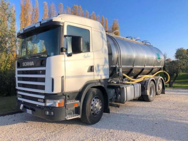 Scania scania r 124 con cisterna coibentata per trasporto
