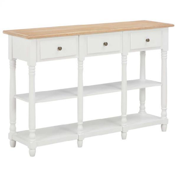 Vidaxl tavolo consolle bianco 120x30x76 cm in mdf