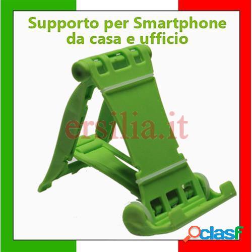 Supporto smartphone, cellulari, tablet, iphone, mp3 multi stand universale (verde)