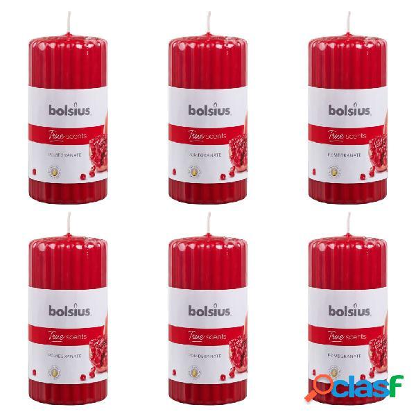Bolsius candele profumate rigate 6 pz 120x58 mm melograno