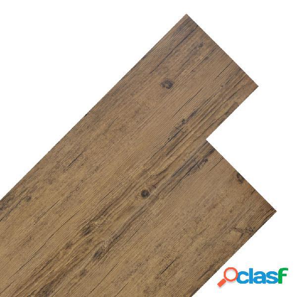 Vidaxl listoni per pavimentazione in pvc 5,26 m² 2 mm marrone noce