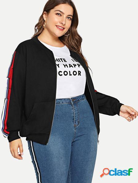 Yoins plus giacca tascabile nera taglia