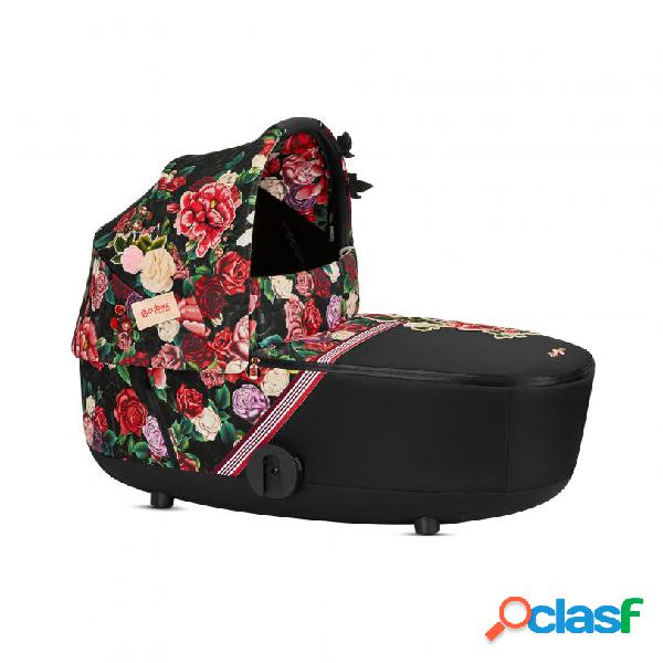Lux carry cot cybex spring blossom mios fashion collection platinum dark /black