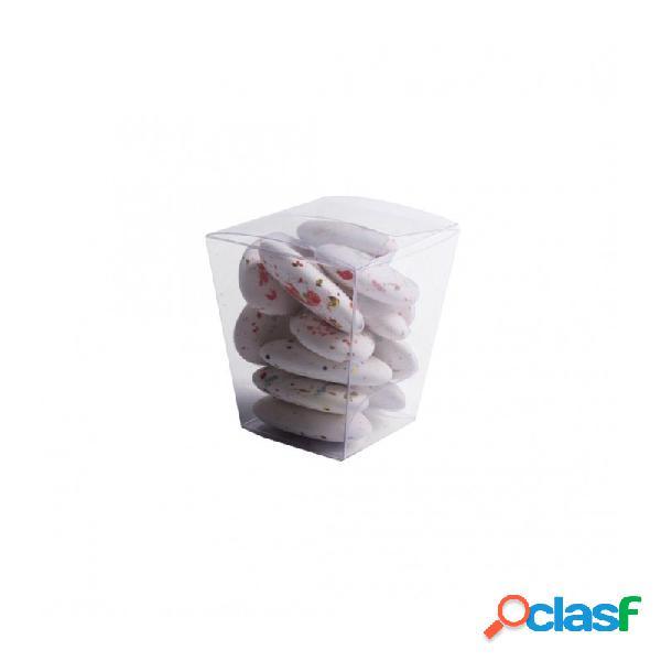100 x bicchierino portaconfetti in plastica 12393 33 x 33 x 50 mm