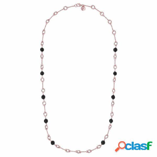 Collana pietre dure | rose gold / 94cm / onice