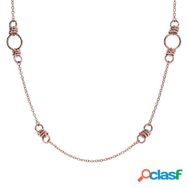 Collana lunga torchon | rose gold / 94cm
