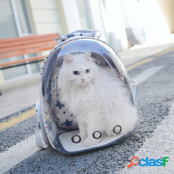 Marsupio da viaggio traspirante per animali domestici trasparente borsa