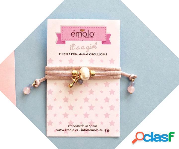 Bracciale-collana mamma rosa it's a girl