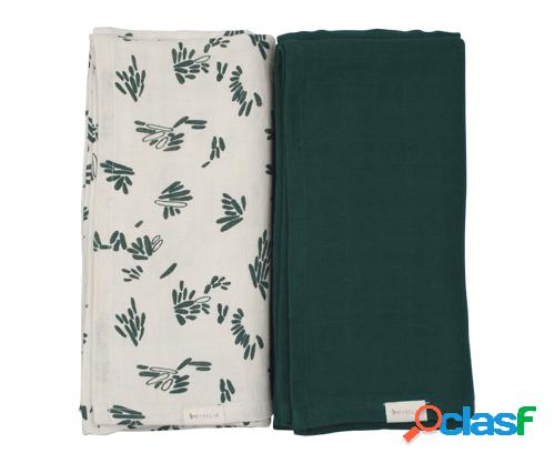 Pack 2 Mussoline Swaddle Forest Floor