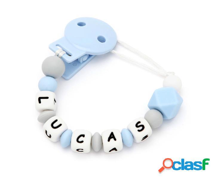 Portaciuccio silicone personalizzato new sweet blue