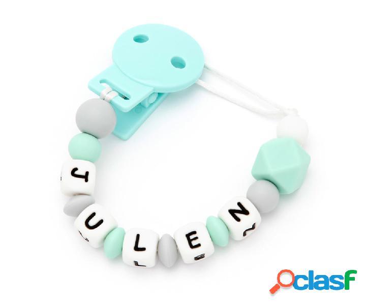 Portaciuccio silicone personalizzato new sweet mint