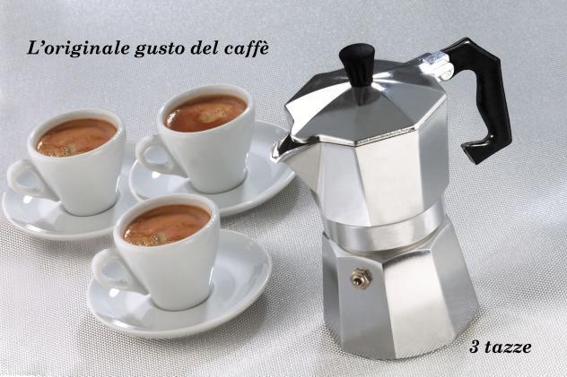 Caffettiera moka 3 tazze classica welkhome caffè espresso