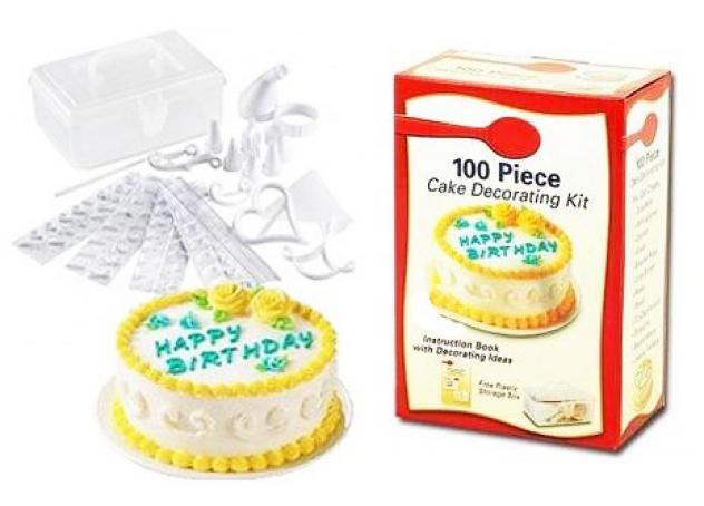 Cake design kit - set di decorazione torte da 100 pezzi con