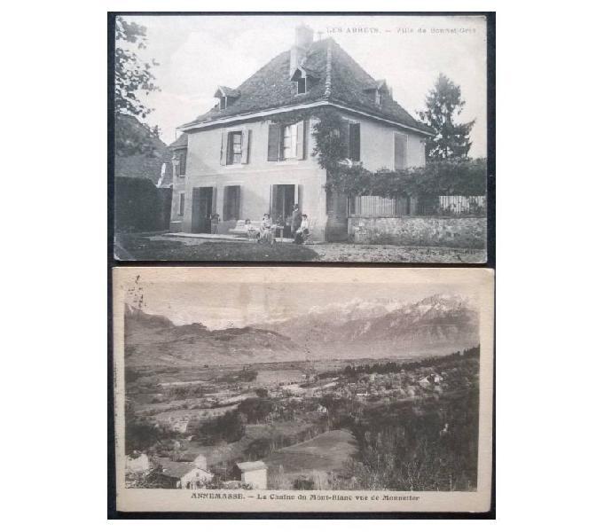 France francia_auvergne r.a. 2 cartoline fp av#03