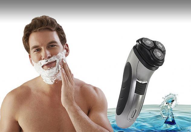 Rasoio elettrico uomo per barba ricaricabile senza filo con