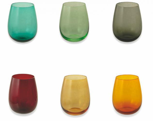 Set 6 bicchieri ã?9,3x11,3 cm in vetro villa deste happy