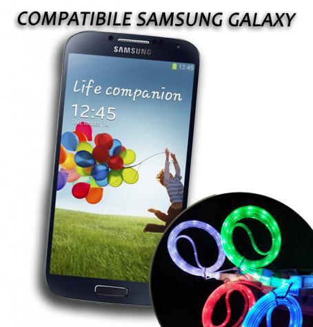 Cavo dati usb luminoso caricabatteria compatibile Samsung