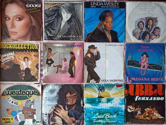 Migliaia di dischi vinili 45 giri