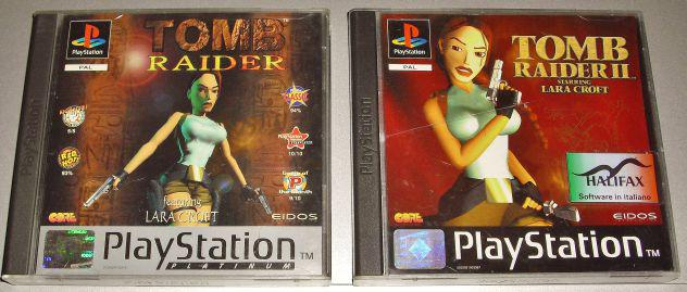 Tomb raider 1 2 ii giochi psx ps1 sony playstation