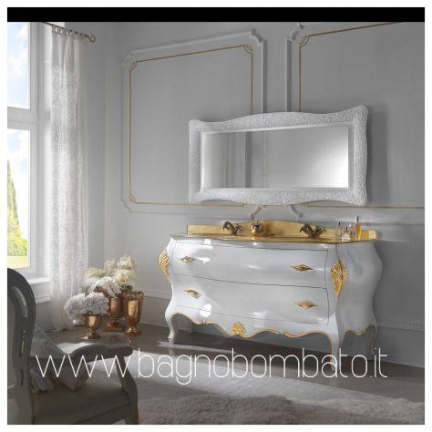 Mobile bagno stile barocco moderno massello top oro24k