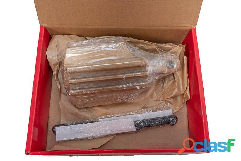 REGALI DI NATALE Confezione regalo 2 coltelli e tagliere Alexander