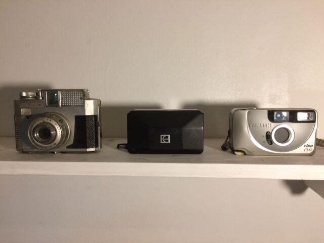 3 macchine fotografiche non funzionanti vintage