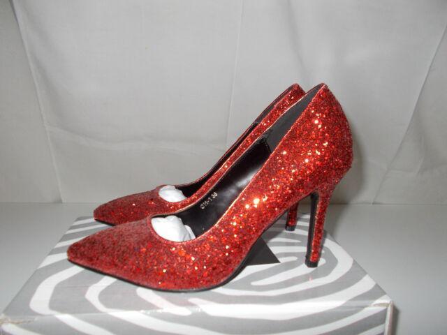 Scarpe rosse glitter tacco a spillo
