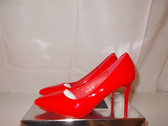 Scarpe rosse lucide tacco a spillo