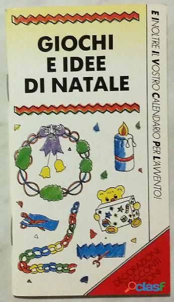 Giochi e idee di Natale di Susan Vesey, Meryl Doney; Editore: Elledici, 1990 nuovo