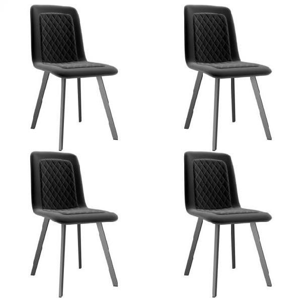 Vidaxl sedie da pranzo 4 pz nere in velluto