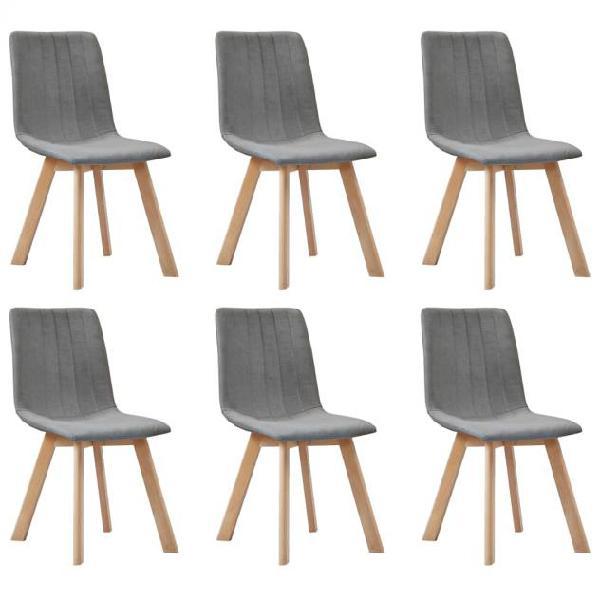 Vidaxl sedie da pranzo 6 pz grigio chiaro in tessuto