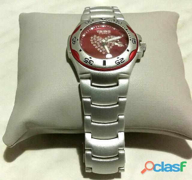 """Orologio donna """"Tribe Breil"""", quadrante tondo di colore rosa, con cristalli acqua resiste 3ATM nuovo"""