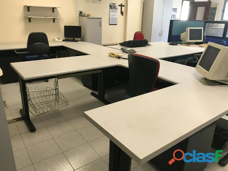 Ufficio operativo 5 postazioni di lavoro   armadio 14 ante CODICE A 5