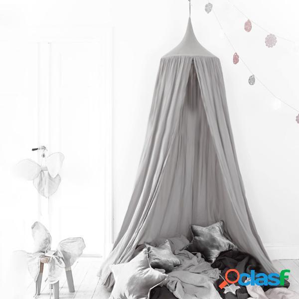 Rete da letto a baldacchino da 240 cm rete da letto per zanzare baby baby play tende lino in cotone