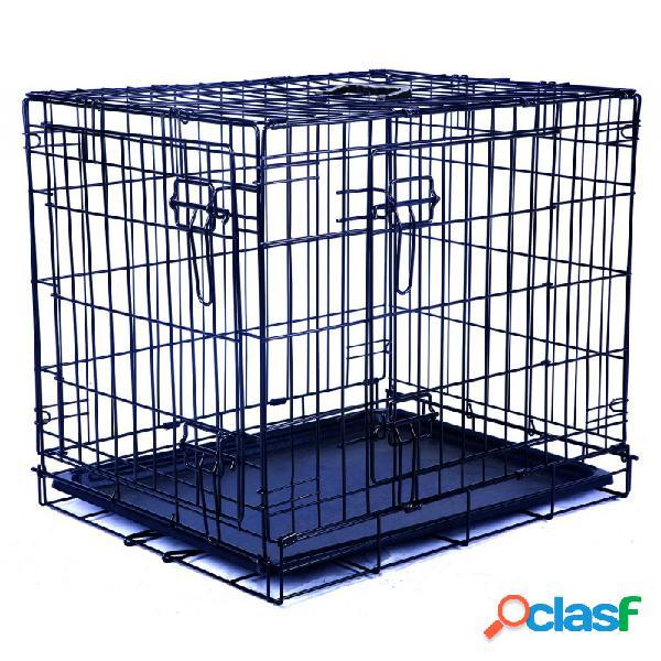 M-pets - gabbia da trasporto per cani 91,5x58,5x63,5 cm misura l nero