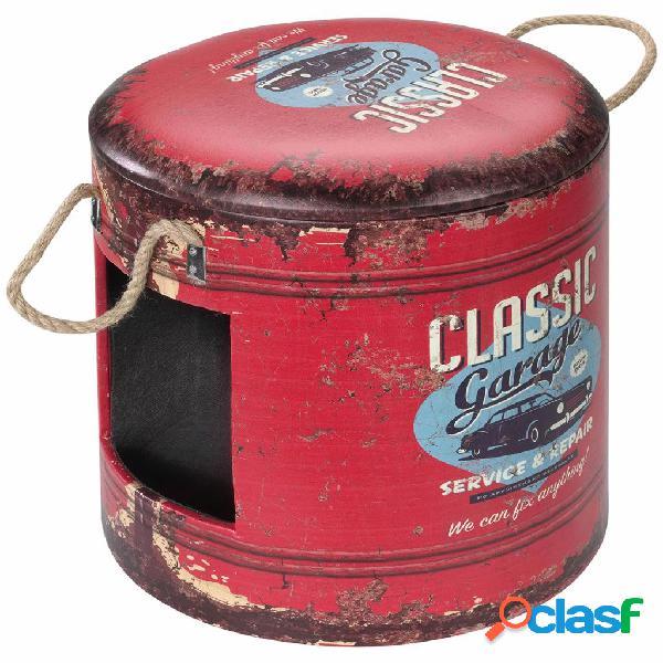 D&d d&d pouf per animali classic garage 35x34 cm rosso 434/429389