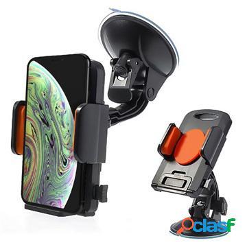 Supporto da auto universale per smartphone / tablet - arancione / nero