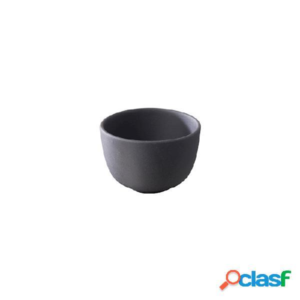 Coppetta xxs basalt revol in porcellana nera cm 5 - nero