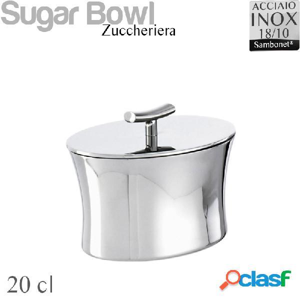 Zuccheriera acciaio 18/10 linea bamboo sambonet cl200 -peso 0,24 kg