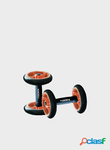 Coppia manubri con ruote per addominali