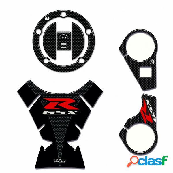 Kit adesivi 3d serbatoio e sterzo compatibili con suzuki gsx-r 1000 2009-2016