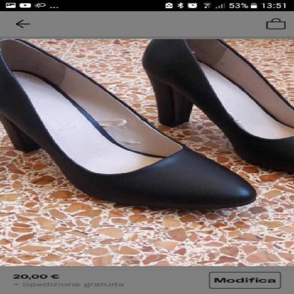 Scarpe nere tacco nuove 36