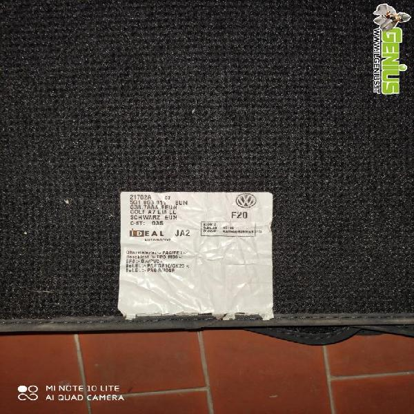 Set completo tappetini in moquette nero per vw golf 7 in
