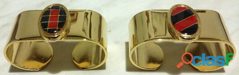 Portagrissini e portatovaglioli in ottone trattamento Galvanico nichel/oro linea Beta Florence nuovo 2